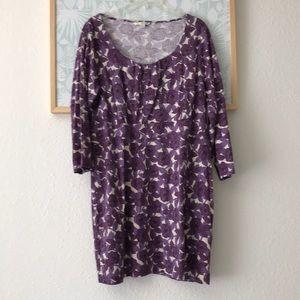 Boden purple floral mini dress 16